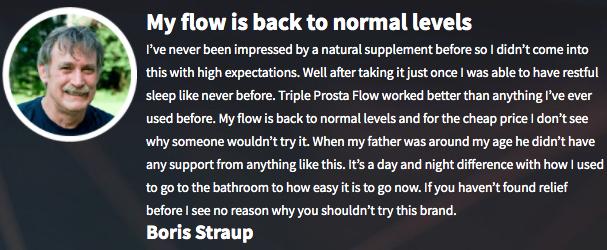 Triple Prosta Flow Testimonials