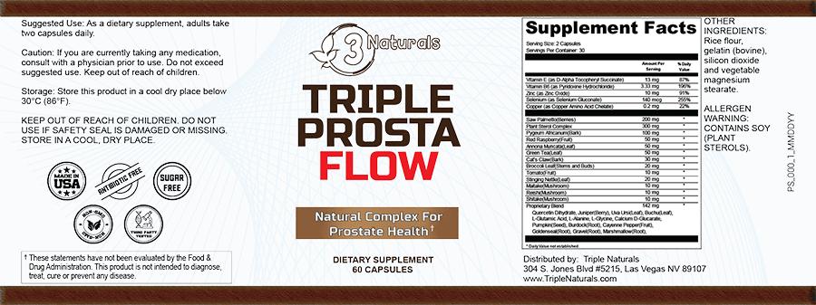 Triple Prosta Flow Ingredients