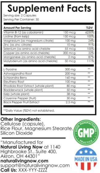 Thyo Activator Advanced Ingredients