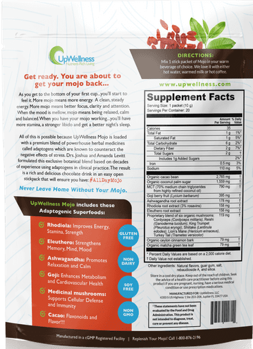 UpWellness Mojo Ingredients